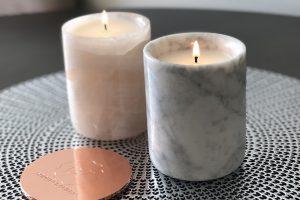 natural stone candles