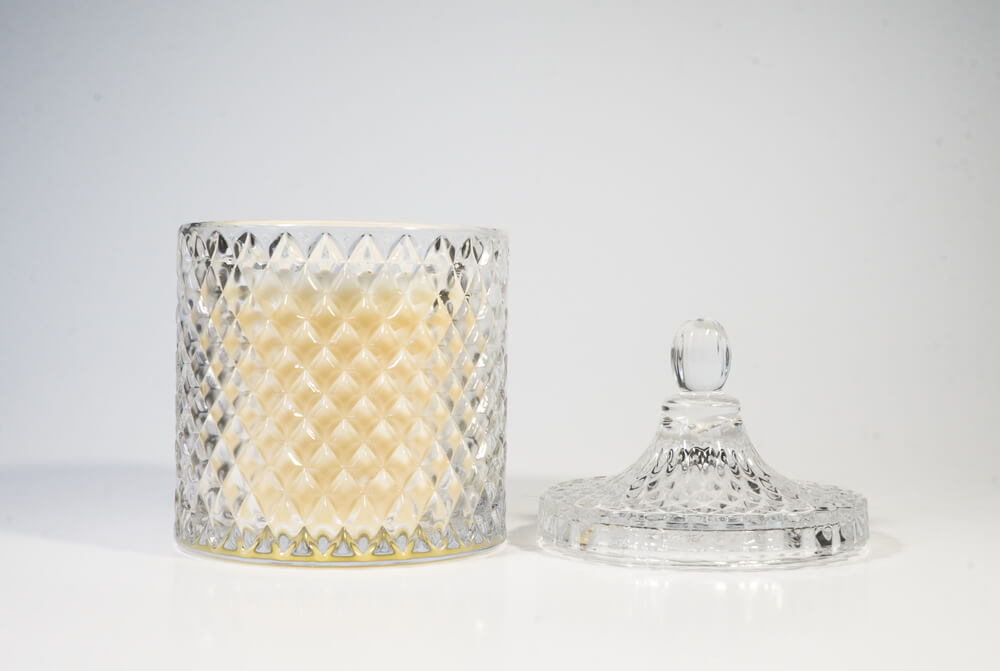 Crystal Candle, hand crafted wax