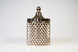 Rose Gold Crystal Candle, hand crafted wax