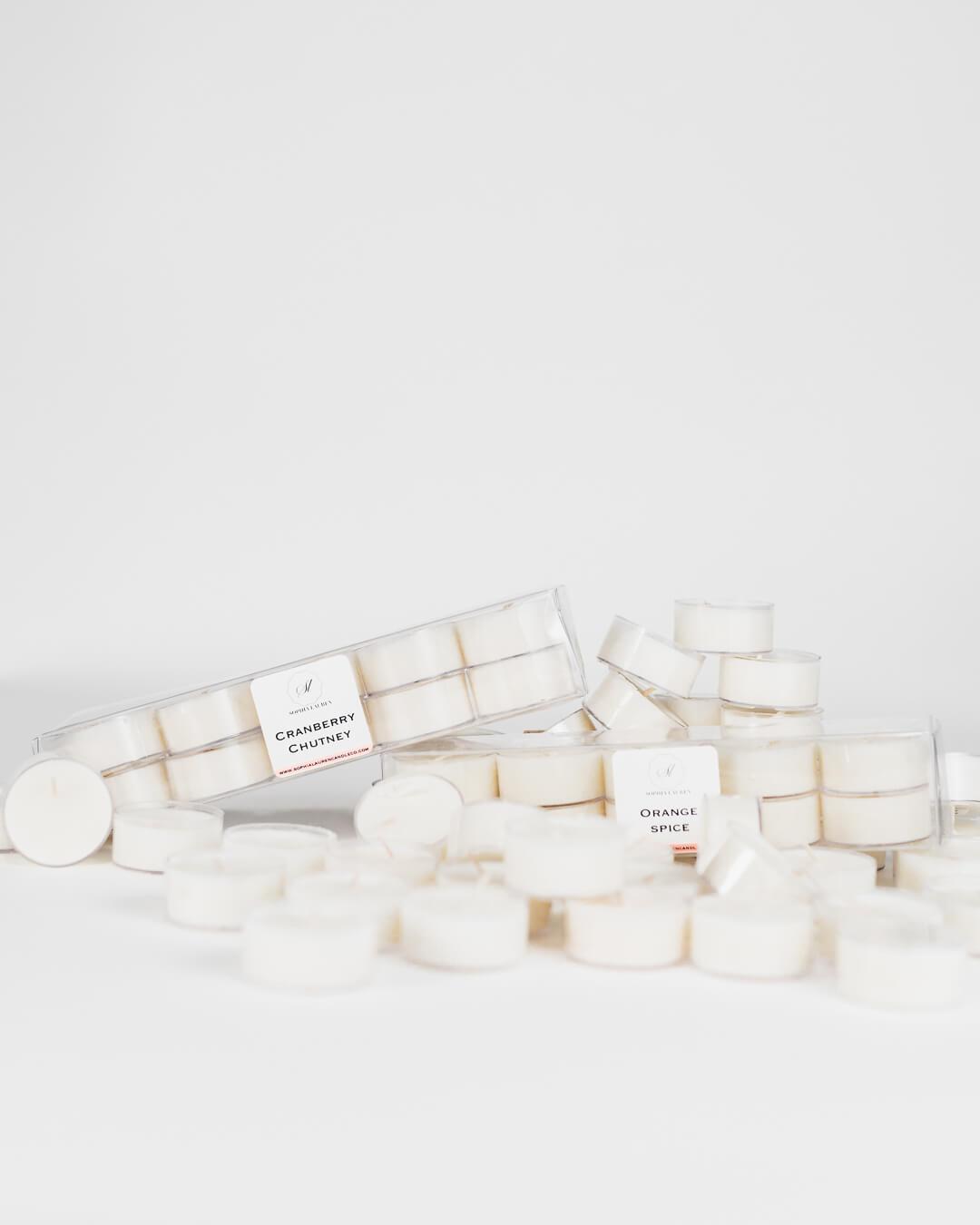 coconut wax tea lights