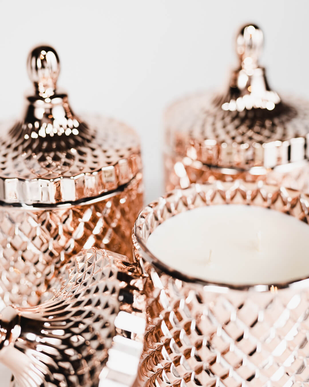 luxury crystal jar hand poured coconut oil candles