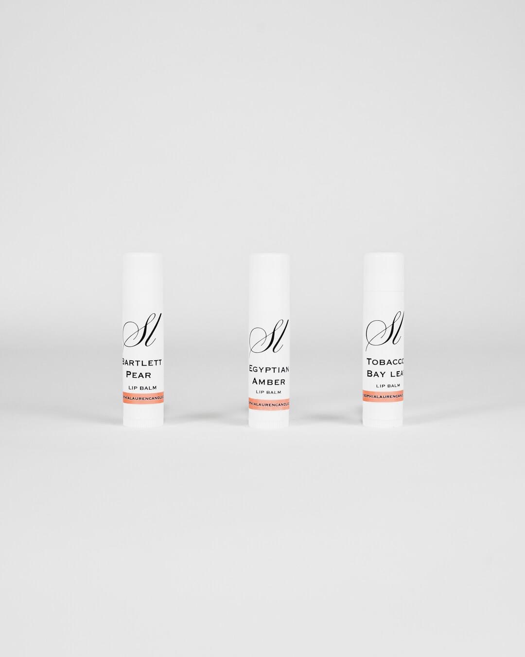 coconut oil based scented lip balm