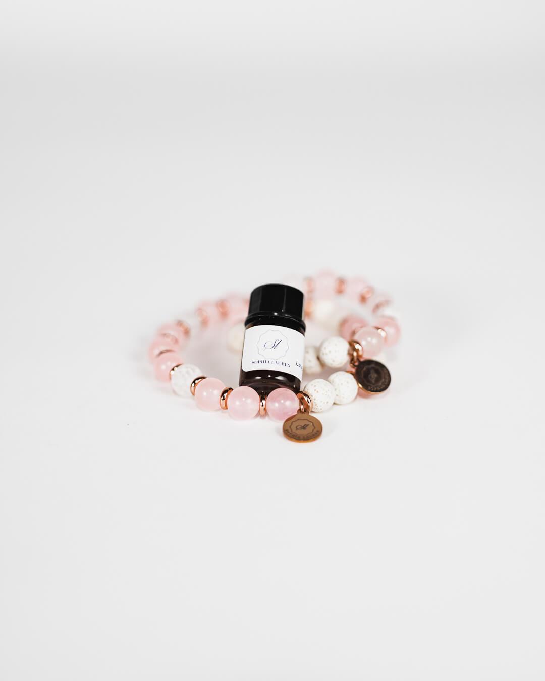 essential oil bracelet and oil